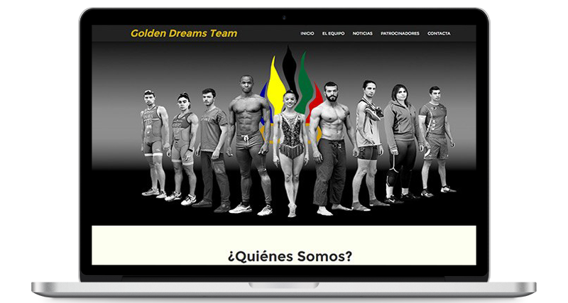 Web Golden Dreams Team versión ordenador